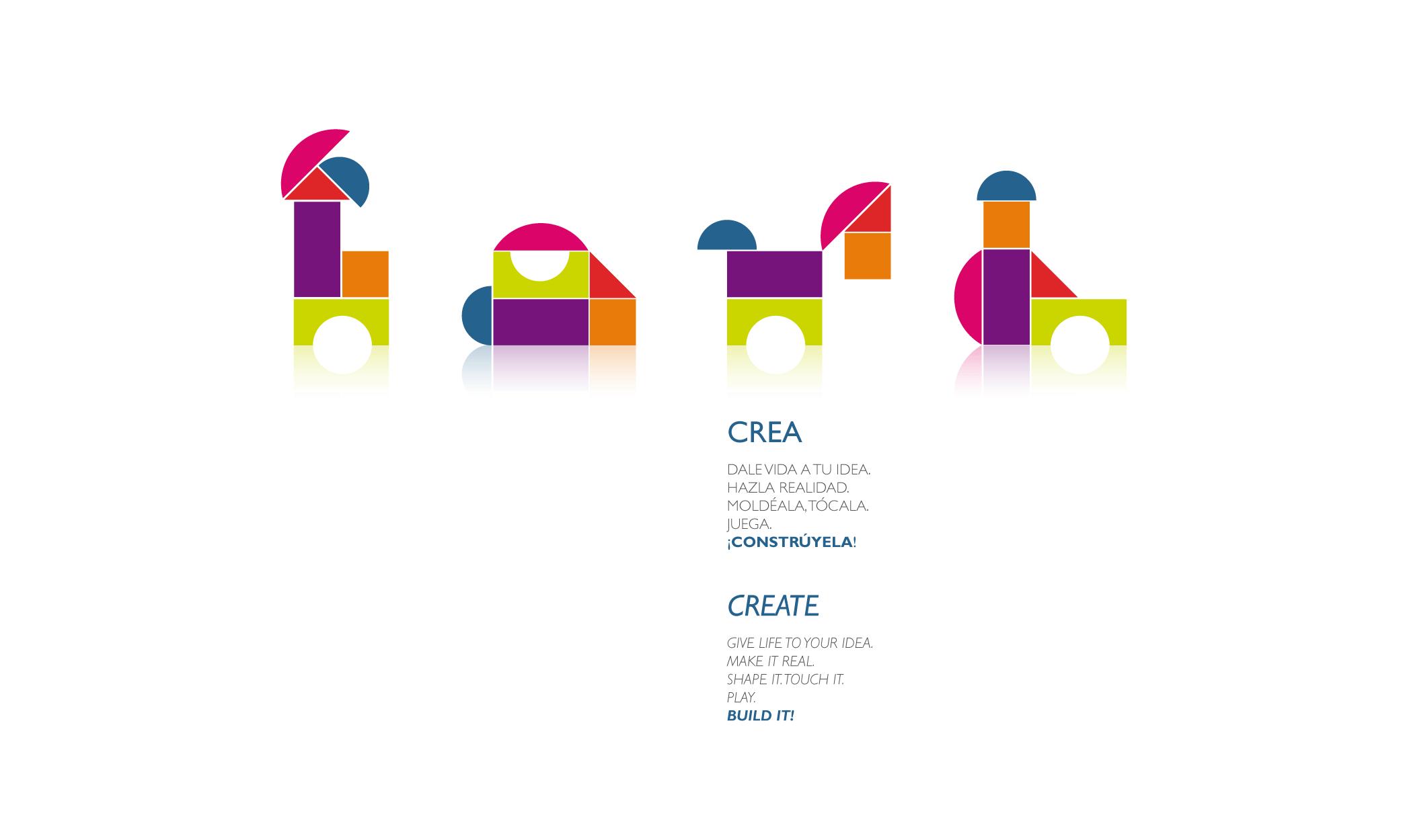 Catchy Design Home Page. Crea-Create