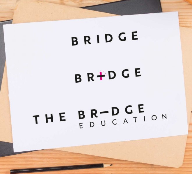 catchy-design-the-bridge-education-construccion-logo